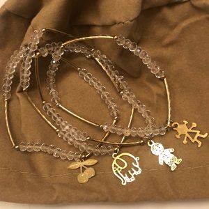 🟨  2/$30  🆕 Charm Bead Bracelets Set of 4
